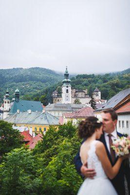 svadobný portrét nevesta a ženích Banská Štiavnica