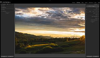ukazka úprav fotografie krajinky v kurze Adobe Lightroom