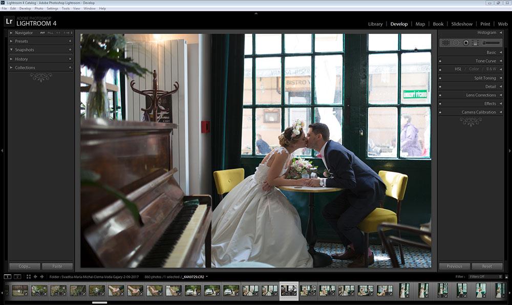 foto adobe lightroom svadba pred upravou