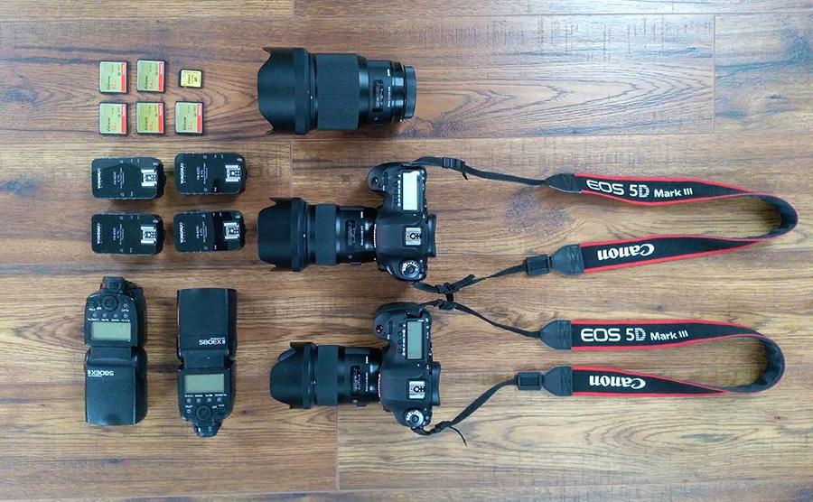 fotografická technika svadobného fotografa, fotoaparáty Canon a objektívy Sigma ART