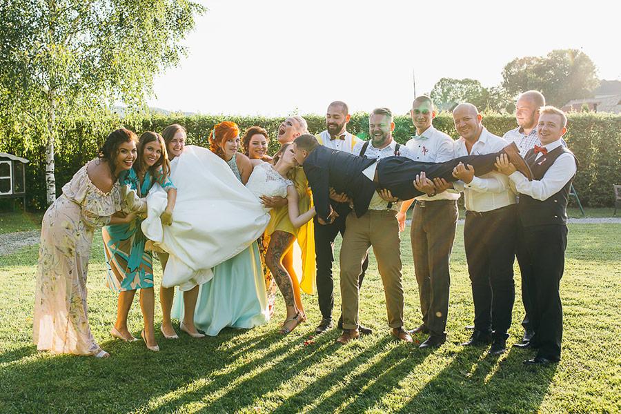 Svadobné skupinové fotografie