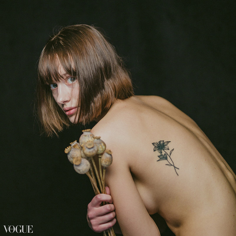 fineart portét vo photo vogue italia, modelka anja